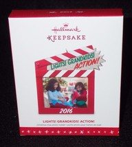 Hallmark Keepsake 2016 Lights Grandkids Action Photo Holder Christmas Ornament - $8.56