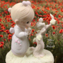 "Precious Moments Figurine ""His Eye Is On the Sparrow"" 1983 - $18.00"
