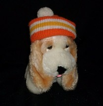 "7"" VINTAGE 1984 COMMONWEALTH PUPPY DOG WITH SKI HAT STUFFED ANIMAL PLUSH... - $25.76"