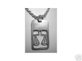 NICE Libra Dog Tag collar design Scales Zodiac Charm Jewelry - $17.17