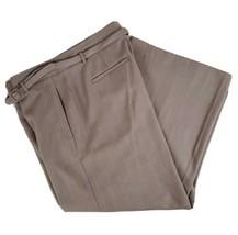 Ann Taylor Taupe Plaid Weave Womens Pants Slacks Size 12 Rayon Blend 34x... - $17.99