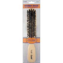 Annie Hard Wooden Brush 5 Row Light Brown 50% Hard Boar 50% Nylon Bristl... - $4.60