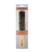 Annie Hard Wooden Brush 5 Row Light Brown 50% Hard Boar 50% Nylon Bristl... - $4.60