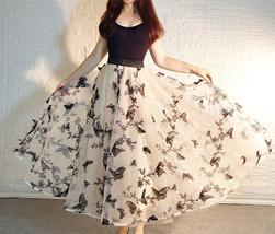 Black Champagne Tulle Skirt Evening Maxi Skirt Tulle Prom Skirt Plus Size image 6
