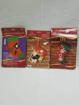 Holiday Time Felt Applique Christmas Stocking Kit Santa New in Pack - $24.99