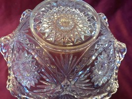 Vintage  Clear Pressed Glass Bowl - Hobstar Patternq - $24.18