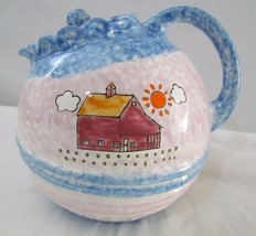 Sigma The Tastesetter Pinch N Coil Glazed Pottery Tea Pot w/ Barn by And... - $39.99