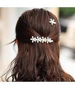 Zoestar Pearl Hair Clips 2pcs Flower Hair Clip Barrette Faux Bobby Pin D... - $7.85