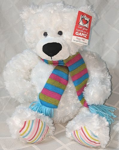 GANZ HX11211 Gusty The White Bear Hug Me Collection 15 Inches 3 Plus Age