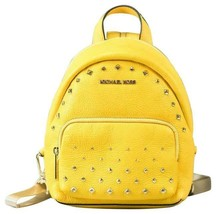Michael Kors Erin SMALL Convertible Backpack Citrus Studded Leather Fann... - $148.49