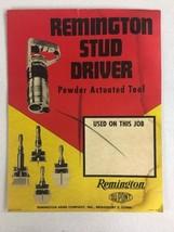Remington Stud Driver Sign model 455A vintage 1950's old store display - $39.99