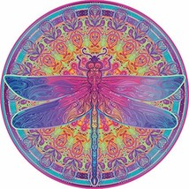Bgraamiens Puzzle-Zentangle Dragonfly-1000 Pieces Vivid Dragonfly Mandala Challe