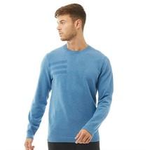 Adidas Herren Golf 3-Stripe Rundhals Pullover Sweatshirt Top CD9933 Blau - $61.00