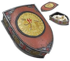 Ebros Medieval Coat of Arms Gold Heraldry Shield Crest Templar Crusaders... - $26.99