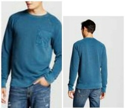Mossimo Men's Washed Long Sleeve Pullover  Frothy Blue  Size XL NWT - $15.99
