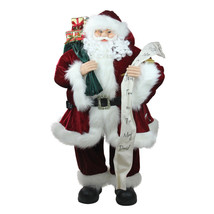 Northlight 3' Santa Claus Naughty or Nice List Bag of Presents Christmas... - $132.40