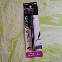 1 L'OREAL PARIS INFALLIBLE PAINTS Liquid eye liner #308 wild green new ... - $3.46