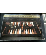 Tournament Backgammon in Faux Leather Case Board Game-Complete - $25.00