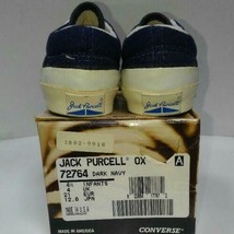 CONVERSE JACK PURCELL OX 90's Vintage Sneakers Shoes Dark navy US 4.5 Dead stock image 2