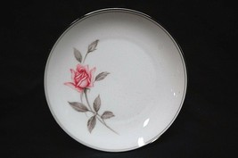 "Rosemarie by Noritake Fine China 6"" Bread & Butter Plate White Pink Roses Japan - $9.89"