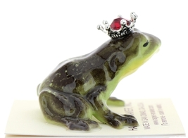 Hagen-Renaker Miniature Frog Prince Kissing Birthstone 07 July Ruby image 2