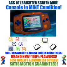 Nintendo Game Boy Advance GBA Orange System AGS 101 Brighter Backlit Mod... - $134.90