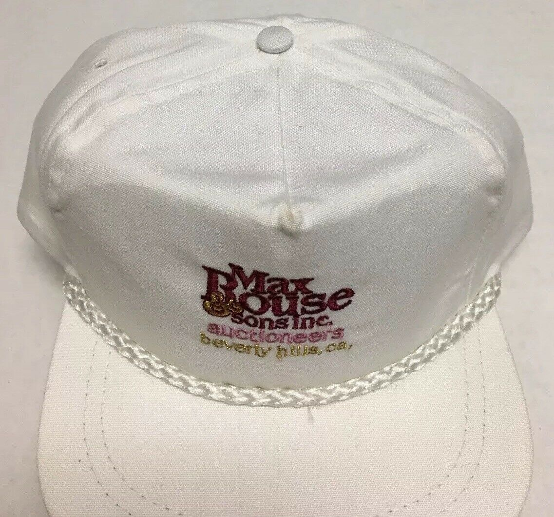 Vtg Max Rouse & Sons Inc Hat Auction Beverly Hills CA Cap Destroyed Made in USA image 3