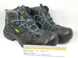MISMATCH Keen Braddock Mid Sz 12 Left & 11.5 Right Men's WP Soft Toe Work Shoes - $71.49