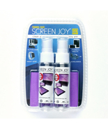 Screen Joy GO Travel Screen Cleaner - 2 30ml Bottles + 7x6 Microfiber Cloth - $9.99
