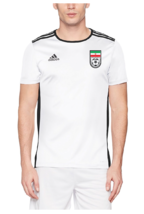 2019 Iran-Team Melli Original Top Training Jersey, White ,Size: Medium - $44.99