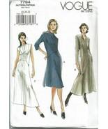 Vogue Sewing Pattern 7794 Misses Petite Dress Front Zip Size 18-22 - $16.19