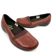 MERRELL 'Apure' Terracotta Brown Leather Ortholite Loafers Women's Size 7 - $19.79