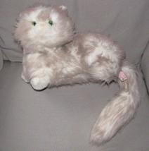 RUSS NIKKI STUFFED PLUSH WHITE CHAMPAGNE KITTY CAT KITTEN GREEN EYE PERS... - $34.64