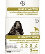 Quad Dewormer for Medium Dogs (26 - 60 lbs) 2 Chewable Tablets - $22.95