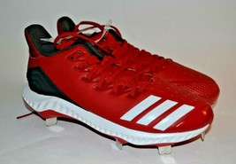 NEW    Adidas Icon Bounce metal Baseball  spikes/cleats      RED      Size 7 1/2 - $47.49