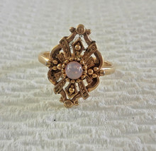 Vintage Signed Avon Victorian Style Faux Opal Ring Size 6 - $7.60