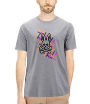 Men's Psycho Bunny Short Sleeve Heather Grey Tee Logo Graphic Shirt T-Shirt image 2