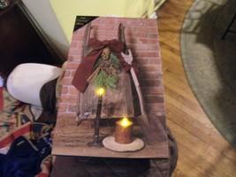 "RR#   LED Lighted Beautiful Christmas Scene on Canvas Wall Art 12"" X 20""  - $29.69"