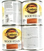 4 Cans Cabot 32Oz Penetrating Wood Stain 8122 Fruitwood Colorfast Fade R... - $49.99
