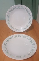 Lot 2 Corelle replacement COUNTRY COTTAGE Bread Dessert Plates Blue Hearts used. - $13.99