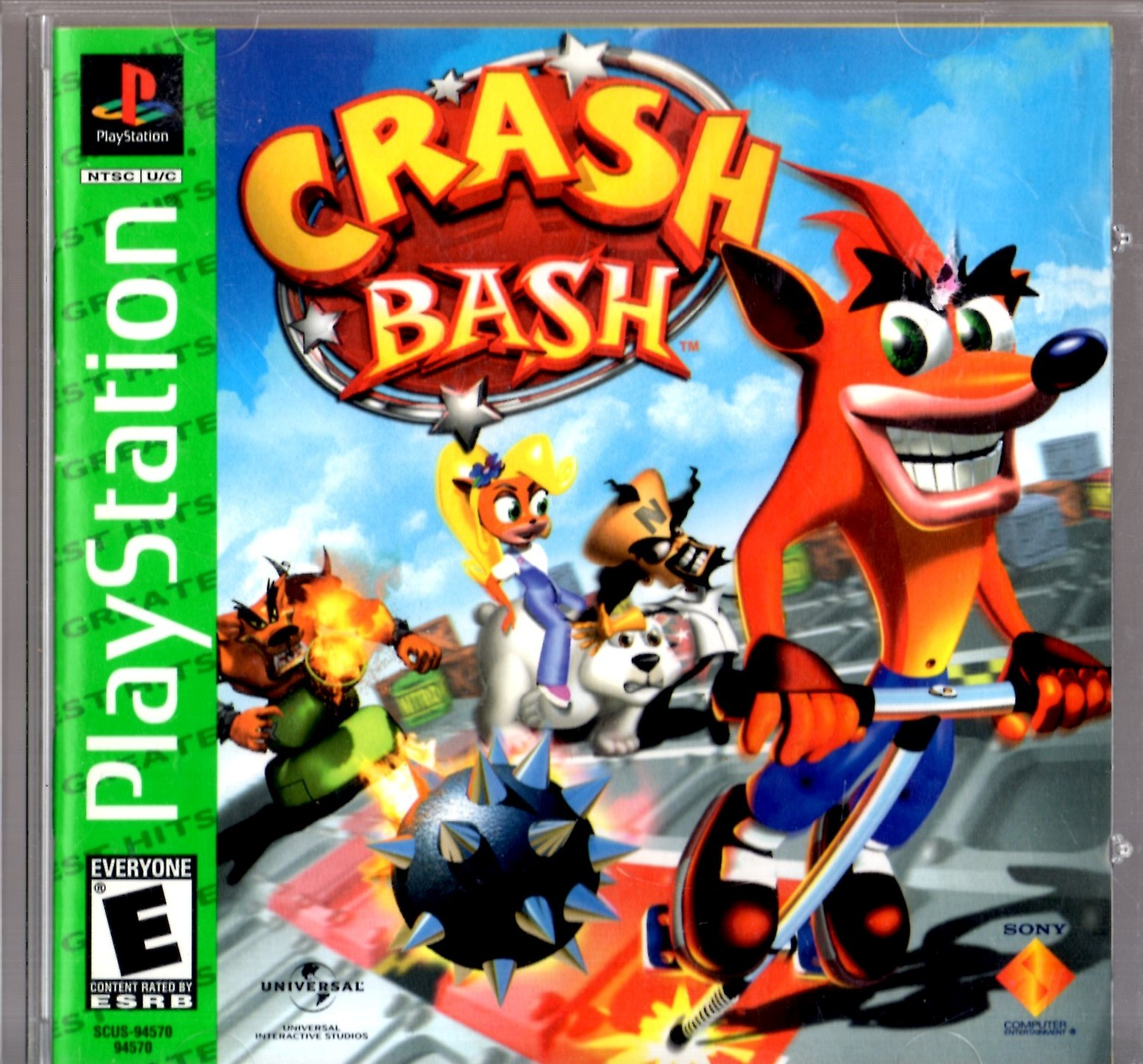PlayStation  -  Crash Bash (Greatest Hits) image 1
