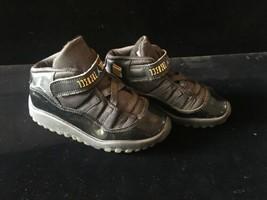 132b94b5d1ff Nike Air Jordan 11 XI Retro Gamma Blue Black 378040-006 Toddler Size 10C -