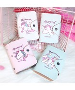 High Quality Faux Leather ID Card Holder Hasp Closures Unicorn Printed 2... - $5.98