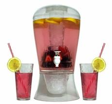 Dispensador De Bebidas De Plástico Irrompible Sifón Con Hielera Removible - $54.90