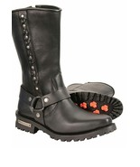 MENS HARNESS BOOT W/BRAID & RIVETED DETAILS   MBM9025 - $129.99+