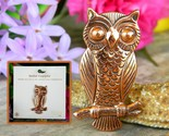 Vintage solid copper owl tree branch brooch pin bell trading post usa thumb155 crop