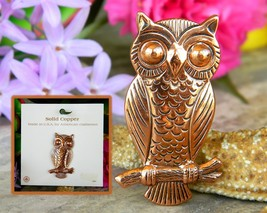 Vintage Solid Copper Owl Tree Branch Brooch Pin Bell Trading Post USA - $18.95