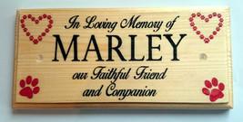 Personalised Pet Memorial Sign, In Loving Memory Plaque Dog Garden Gate ... - $12.79