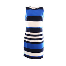 2827-2 Lauren Ralph Lauren NEW Blue White Women's Sheath Striped Dress 4... - $63.86