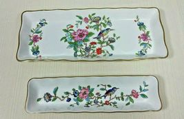 John Aynsley Pembroke Biscuit and Mint Tray Set Bone China Gold Trim 2 P... - $79.99